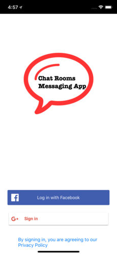 Chat Rooms Messaging App for iPhone,iPad
