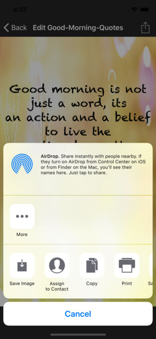 Good Morning Quotes App for iPhone,iPad and Android