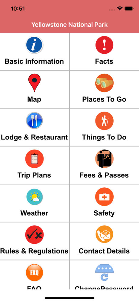 yellowstone national park App for iPhone,iPad and Android